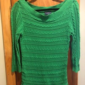 Like new bright green sweater